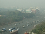 Morning smog in Pune
