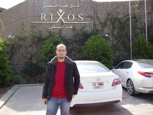 Me outside the Rixos Hotel