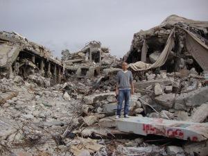 Gaddafi's bulldozed house