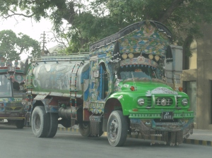 Colourful truck in Karachi