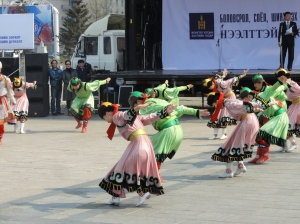 Traditional Mongolian dancing