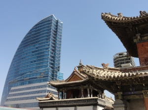 The old and the new of Ulaanbaatar