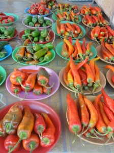 How expensive are chillies in Caracas?