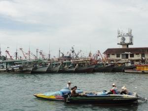 Fishing boats in KK