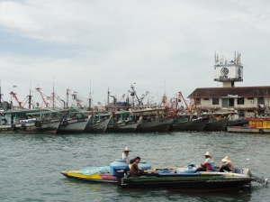 Fishing boats in KK