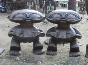Local wood carvings