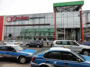 The shiny new Casino supermarket in Pointe Noire