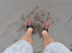 My 'Africa' shoes get a soaking