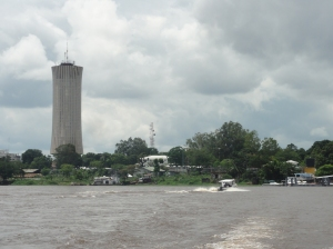 View of Brazzaville from the Congo River