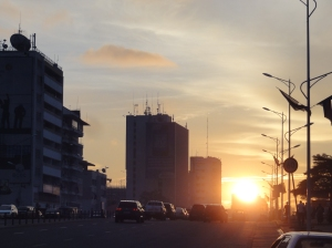Sunset on Boulevard Du 30 Juin