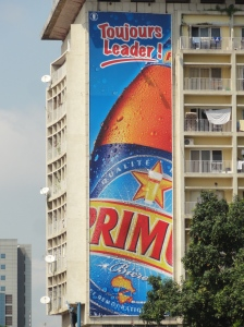 DRC's most popular beer - the Bralima brewed Primus