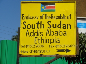 The South Sudan Embassy in Ethiopia