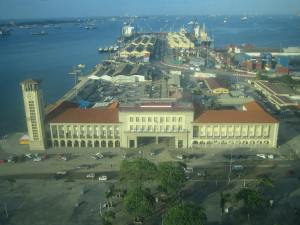 View of the port from my hotel room