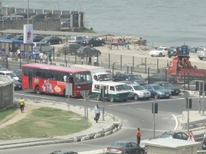 Traffic on Victoria Island