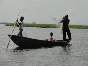 Fishing near the village of Ganvie