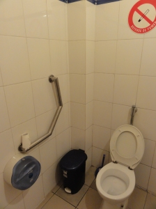 They even have disabled toilets in the shopping malls