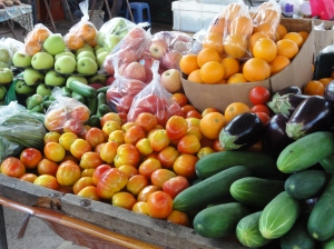 Fruit and veg at the Sir Selwyn-Selwyn Clarke Market