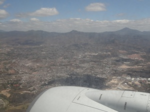 Descending into Tegucigalpa Toncontin International Airport