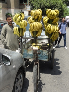 Bananas on a tricycle