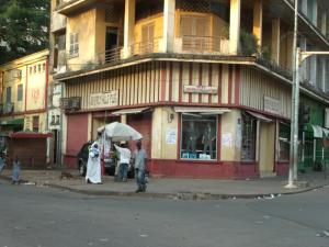 A clothing store in Conakry