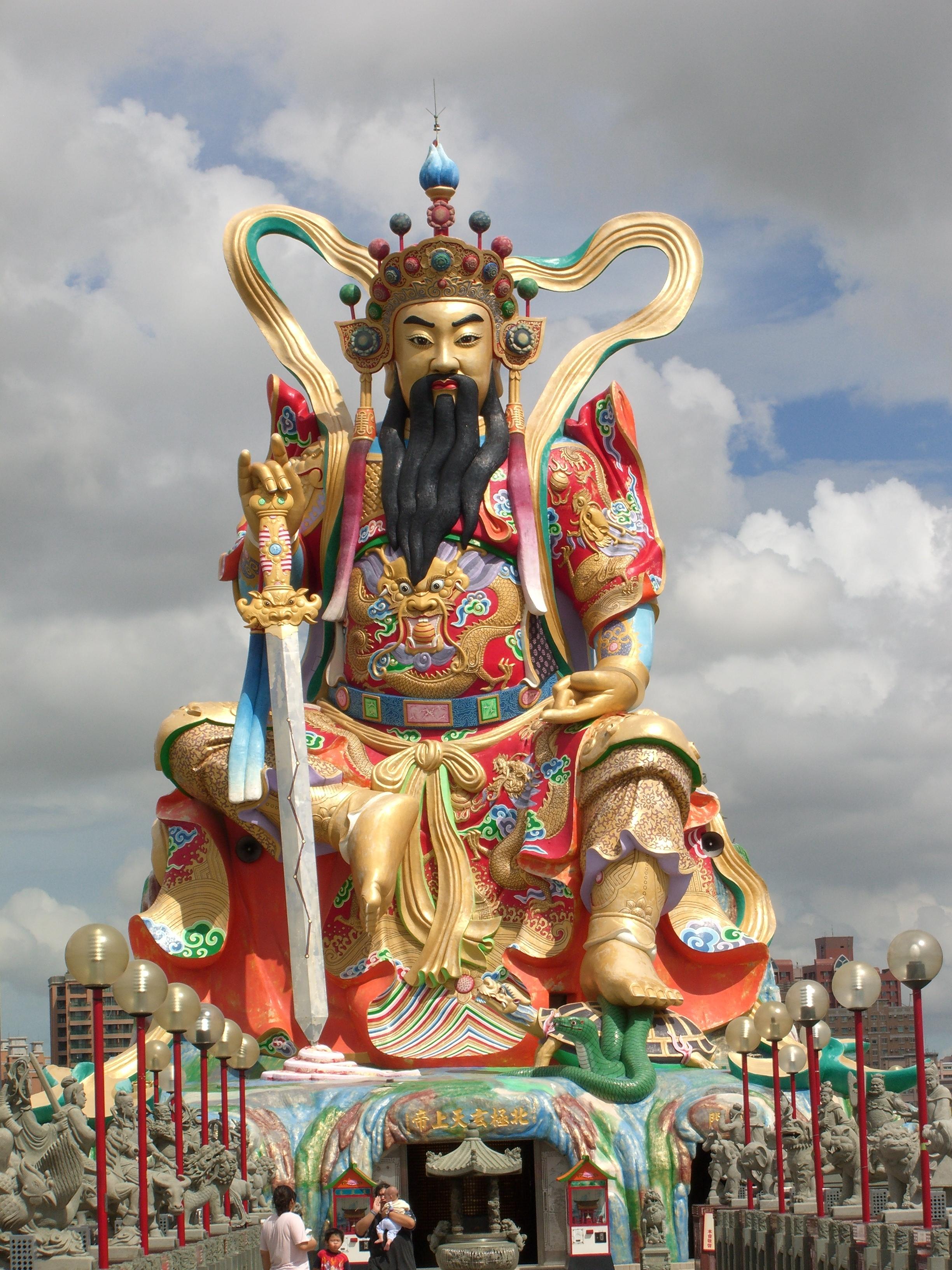 Beiji Xuantian Shang Di Pavilion On Lotus Lake Wanderingmark