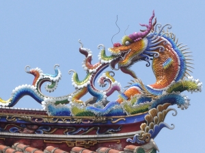 Every temple has elaborate dragons