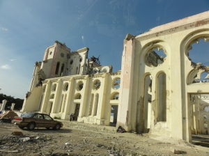 Port-au-Prince Cathedral after the earthquake