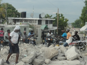 The roads still need a lot of work in Haiti