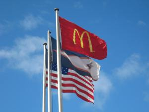 Flags of the USA, American Samoa and McDonalds!