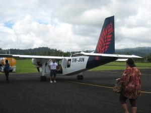 That's a small plane! American Samoa