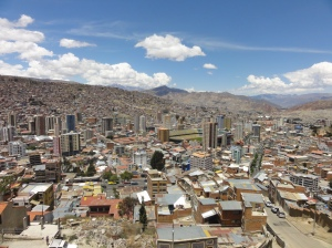 The spectacular setting of La Paz