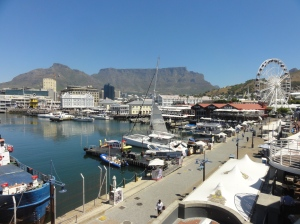 The Victoria and Alfred Waterfront shopping centre in Cape Town