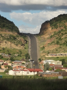 Steep road in Maseru