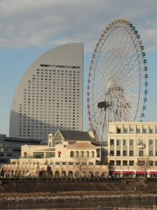 The largest clock in the world and Yokohama's Intercontinental hotel