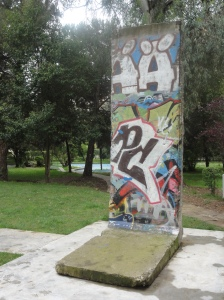Tirana's very own section of the Berlin Wall