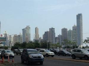 Traffic in Panama city