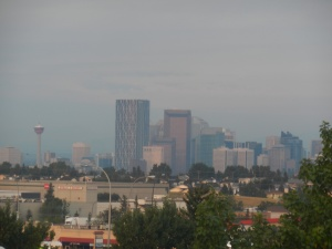 Calgary's downtown skyline from afar