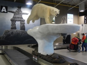 Yellowknife Airport's luggage carousel