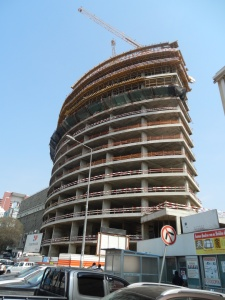 Much of Luanda is a construction site