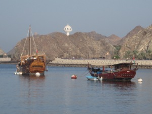 Fishing boats in Mutrah Bay