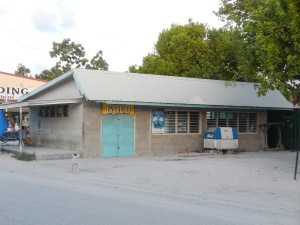 One Stop store, Kiribati - closed early for the day