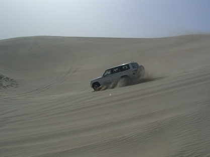 Dune bashing in the desert