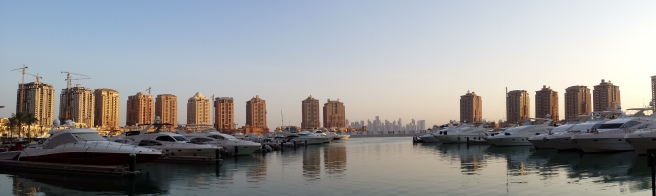 The Pearl and Doha skyline