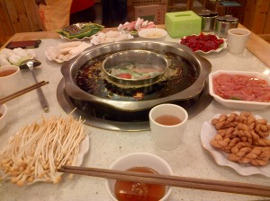 Chongqing hotpot - a fiery communal broth