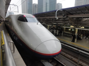 It's really quite surreal zooming through the countryside at over 300kmh in a Japanese bullet train