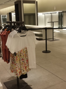 Zara and empty shelves