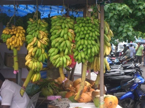 Hanging bananas on the streets of Male