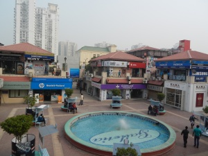 Galleria Market shopping area in Gurgaon