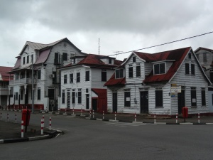 Colonial buildings in Paramaribo's centre
