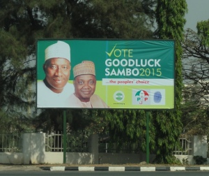 Goodluck Jonathan campaign poster